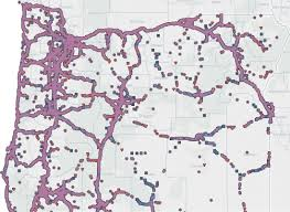 Burns Oregon Map State Of Oregon Oregon State Police