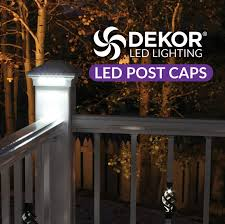 trex post cap lights led post cap lights elegant durable and beautiful led caps by dekor