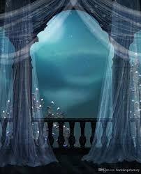 photography background vintage castle balcony wedding photo background white curtain