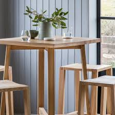 high table with four chairs solid oak high table bar stools set primrose plum