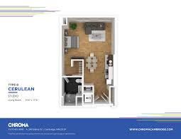 Studio Plans by Models Chroma Luxury Apartments In Cambridge Ma