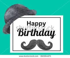 birthday card man happy birthday stock illustration 662864875