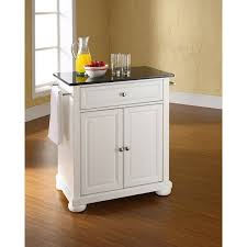 crosley furniture kitchen cart alexandria black granite top kitchen cart white kf30024awh