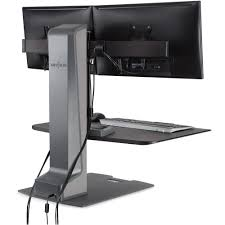 Electric Sit Stand Desk by Innovative Winston E Electric Dual Monitor Sit Stand Workstation