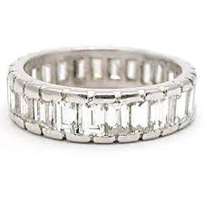 cleopatra wedding ring baguette diamond accent wedding rings the wedding specialiststhe