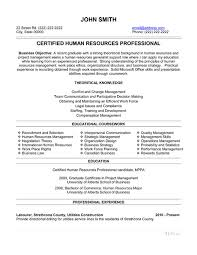 Resume Templates For Experienced Professionals Professional Hr Resume Templates Resume Templates 2017