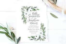 summer wedding invitations green wedding invitations wedding invitation set printable