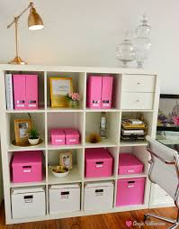new office ikea storage and organization pink boxes from ikea