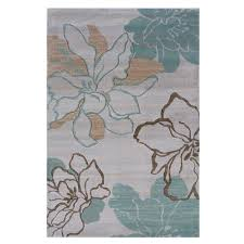 linon home decor rugs linon home decor milan collection ivory and turquoise 1 ft 10 in x