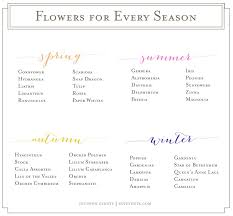 wedding flowers list flowers for every season