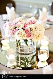 Floating Candle Centerpiece Ideas Vanity Tray Flowers Centerpiece Mirror Trays For Centerpieces