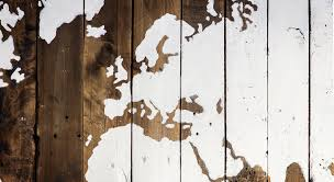 07 World Map by Rustic Reclaimed Wood Sign World Map Pacific Ocean Centered