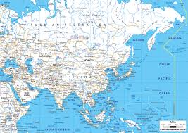 Large World Maps by Large Road Map Of Asia With Major Cities Asia Mapsland Maps