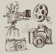 film camera old and new black u0026 white icon set vector art