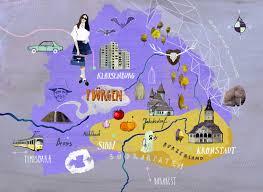 Map Writer Illustrated Map Of Siebenbürgen Aka Transylvania Illustrated