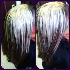 chocolate hair with platinum highlight pictures highlights by heidi hair colors ideas