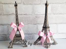 eiffel tower centerpieces 10 inch silver eiffel tower cake topper pink and silver