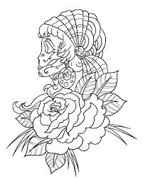mexican skull coloring pages getcoloringpages com