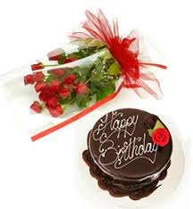 order send midnight online happy birthday roses and chocolate cake