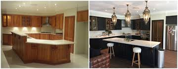 spray painting kitchen cabinets sydney timber kitchen renovation before and after such a great
