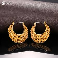 creole earrings thick hoop earring for women aros gold filled circle earrings