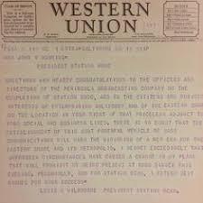 singing telegram baltimore western union singing telegram ad 1955 1955