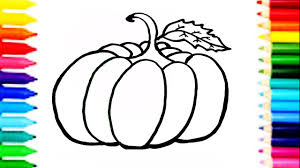 how to draw pumpkin coloring pages kids learn drawing art colors
