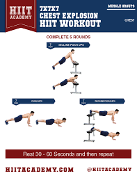 looking to build up those pecs this chest hiit workout tackles