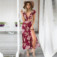 sun dress women s boho maxi dress evening party dresses