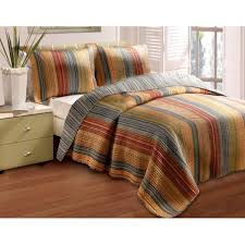 Beige Coverlet Greenland Home Fashions Katy 3 Piece Quilt Set Free Shipping