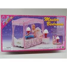 miniature furniture master bedroom barbie doll house