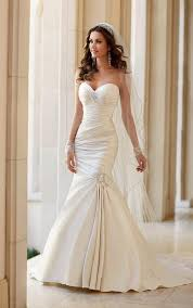 strapless wedding dress wedding dresses strapless fit and flare wedding dress stella york
