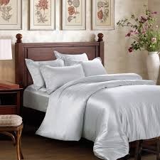 Premium Duvet Covers 25 Momme Platinum Silk Bed Linen