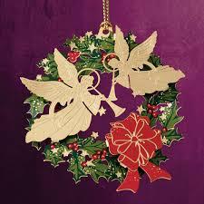 2014 chemart wreath brass ornament