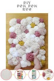 make this diy pom pom rug pom pom rug lockers and craft