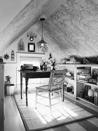 Small Home Design Inspiration by Inspirational Rustic Attic Small Home Office With Black Rectangle