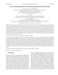 universal testing machine for mechanical properties of thin universal testing machine for mechanical properties of thin materials pdf download available
