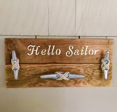 nautical wood wall hanger