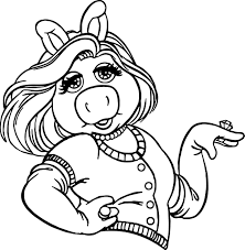 the muppets miss piggy coloring pages wecoloringpage
