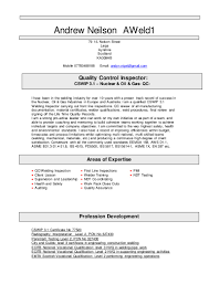Resume Sample Quality Control Inspector by Andrew Neilson Cv