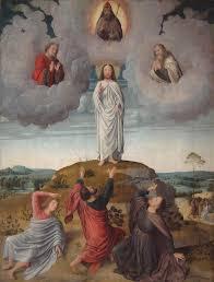 the transfiguration of christ central panel 1520 gerard david