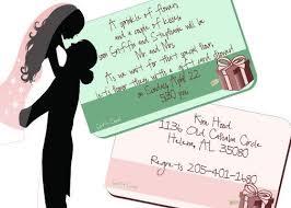 gift card bridal shower wording gift card bridal shower invitation wording kawaiitheo