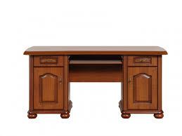 Schreibtisch 55 Cm Tief Schreibtisch Mit 2 Türen Und 2 Schubladen Kirschbaum 474 55