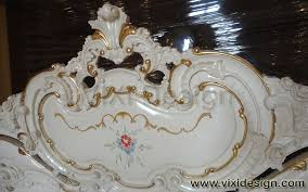 White Painted Headboard by Baroque Bed Sets White Painted Iqlima Vixi Design Furniture