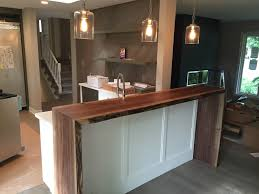 Kitchen Island Breakfast Bar Designs Live Edge Waterfall Breakfast Bar 4000 00 Cad By Planktotable