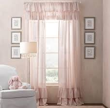 Petal Pink Curtains Pink Frayed Ruffle Drapery Panel