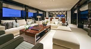 Home Yacht Interiors Design Luxury Charter Yacht Manifiq Main Salon Interior By Luca Dini