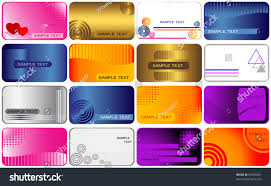 gift card business set business gift cards vector stock vector 69055561