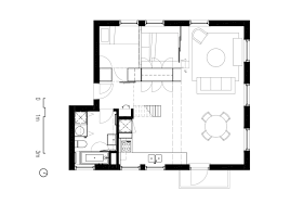design floorplan two apartments in modern minimalist japanese style includes floor