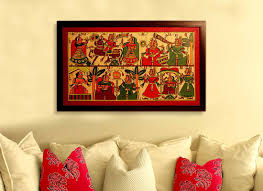 Handicrafts For Home Decoration Buy Indian Wedding Phad Painting Online Handicrafts Online